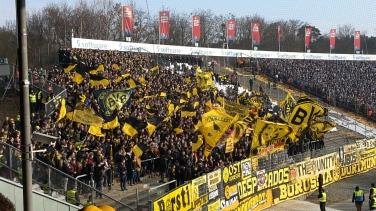 Dortmund-Fans in Darmstadt